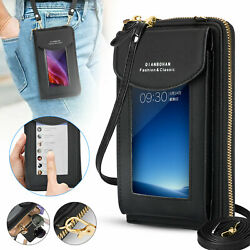 Women Touch Screen RFID Crossbody Cell Phone Bag Wallet Key Pouch Shoulder Purse $11.98