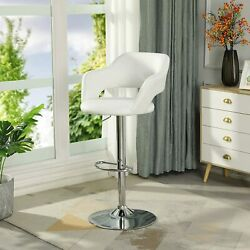 White Kitchen Bar Stools Set Of 2 Footstool Leather Dining Chair Swivel Chair