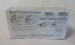 Avon Credit Card Form Slips Manual Imprinter Sealed New In Package