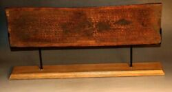 Rare 16th Century Old Antique Tibet Buddhism Wooden Sutra Cover Sanskrit/stupa