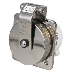 Hubbell Boat Shore Power Inlet Hbl316ssx | 230v 16a Stainless Steel
