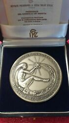 Prime Minister Of Italy Official Big Silver Medal Boxed /nude Lady Art Deco