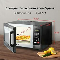 Em925a5a-bs Microwave Oven With Sound On/off Eco Mode And Led Lighting, 0.9 Cu F