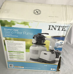Intex 26645eg Krystal Clear Sand Filter Pump For Above Ground Pools, 12-inch