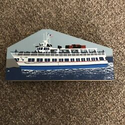 Cats Meow 2002 Village Collectibles Hyline Ferry Marthas Vineyard