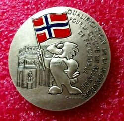 1998 Fifa Norway 2 Brazil 1 Footbal World Cup French Silver Medal-rare 127gr