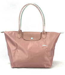 New Longchamp Le Pliage Club Tote Bag Pale Pink 1899 Made In France