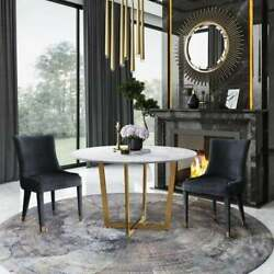 Silver Orchid Swain Antique White Marble Dining Table Antique White Glam, Modern