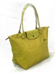 New Longchamp Le Pliage Club Tote Bag Acid Green 1899 Made In France