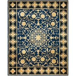 Safavieh Asian Hand-knotted Majesty Royal Blue Wool Rug