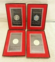 Lot Of 4 United States Eisenhower Proof Dollar 1971 1972 1973 1974 Brown Pack