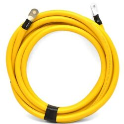 Boat Yellow Battery Cable   15 Foot 6 Inch 2/0 Awg