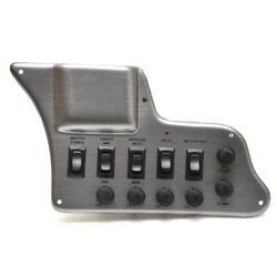 Lund Boat Switch Panel 2293578   W/ Fuses 10 X 6 Inch Pewter Brushed