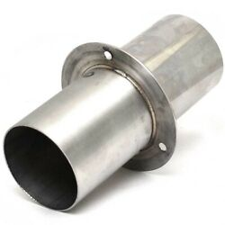 Boat Exhaust Tip   4 Inch Stainless W/ Flapper Rubber