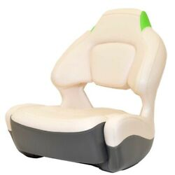 Chaparral Boat Captains Helm Seat 31.00539   Bolster White Gray Green