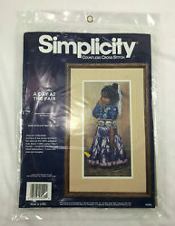 Simplicity A Day At The Powwow Fair Countless Cross Stitch Kit Printed Canvas