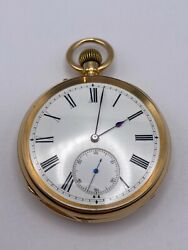 Vintage 1900and039s Swiss Solid 18k Gold Pocket Watch