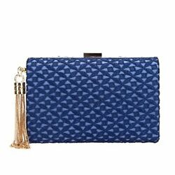 Fawziya Lace Tassel Clutches And Evening Bags For Women Purses And Handbags Blue $35.23