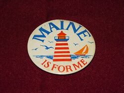 Vintage Pin Back Button 1981 Maine Is For Me Lighthouse
