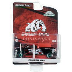 30258 2018 Dodge Ram 3500 Dually 1/64 Bully Dog Tow Track Trail Black Chase