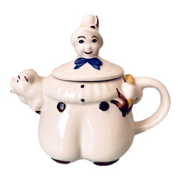 Vintage Shawnee Tom The Pipers Son Teapot Pig Spout 1940s Pottery Usa 7