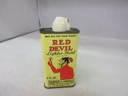 Vintage Advertising Red Devil Lighter Handy Oiler Tin Empty Collectible A-754