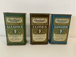Antique Rawleighand039s Spice Tins W.t. Rawleigh Co. Freeport Ill