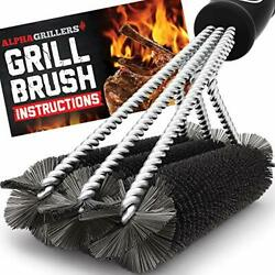 Alpha Grillers Grill Brush Rust Proof Bbq Cleaning Scraper Accessories Safe