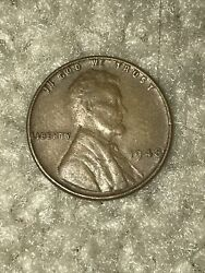 1948 Lincoln Wheat Penny No Mint Mark Rare One Cent Coin