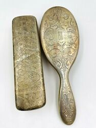 And Co. Makers Sterling Silver Art Nouveau Vanity Brush Set Of 2