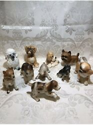 Vintage England,japan, Dog Figurines From 1972-1977s, 10 Pieces