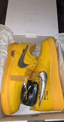 Nike Air Force 1 Low X Off-white University Gold Ds Size 10.5 Dd1876-700