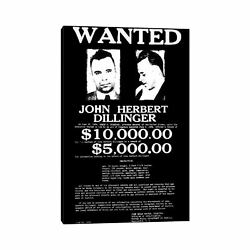Icanvas Wanted - John Herbert Dillinger By Unknown Artist Small