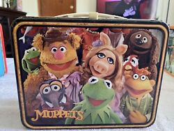 Vtg The Muppets Metal Lunch Box Bright Colors High Grade