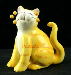 Amy Lacombe Whimsiclay Friends Forever Cat Figurine # 13044 HTF 2005