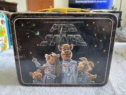 Vtg Pigs In Space Muppets Metal Lunch Box Bright Colors High Grade