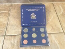 Vatican Official Euro Coin Set Bu 2002 From 1 Cent To 2 Euro 395.00