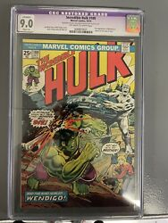 Incredible Hulk 180 Cgc 9.0 Restored 1st Appearance Of Wolverine In Cameo