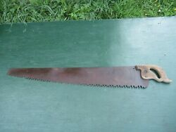Vintage One Man Crosscut Saw With Wooden Handle In Great Condition 42 Blade