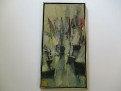 Hsing-sheng Yang Oil Painting Abstract Vintage `1970and039s Taiwan Chinese Modernism