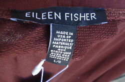 Nwt Eileen Fisher Pants Brownstone Tapered Ankle Pants L 178 Cinnamon Tint