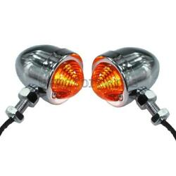 2x Bullet Turn Signals Light For Harley-davidson Softail Deluxe Slim Fatboy Dyna