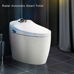 Elongated One Piece Smart Toilet With Advance Bidet Heated Seat And App Control