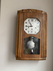 Antique Vedette Wall Clock With English Chimes