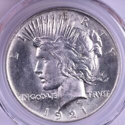 1921 Peace Silver Dollar - Pcgs Ms64 High Relief Superb Strike