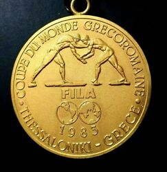 1983 Thessaloniki Greece Greco-roman Wrestling World Cup Russian Gold Medal