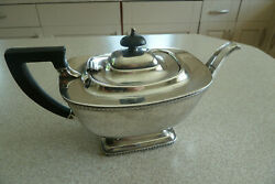 Art Deco Silver Plated Teapot And039hecworth/reproduction Old Sheffield/38and039
