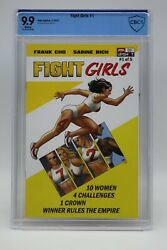 Fight Girls 2021 1 Frank Cho Cover A Cbcs 9.9 Blue Label White Pages Mint