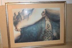 Ma Frank Howell Maandicirctre Editions Lithographie Raven Guardian Spirits-limited