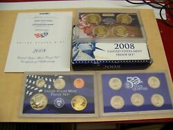 2008 Us Mint 14 Pc Total Clad Coin Proof Sets